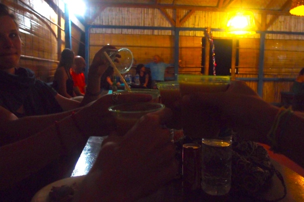 Our last toast to 2013 with sopi, the traditional Flores moonshine.
