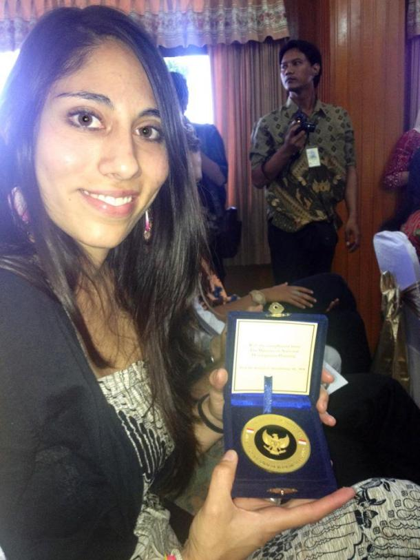 After being sworn in as Peace Corps Volunteer in Malang in May 2012.