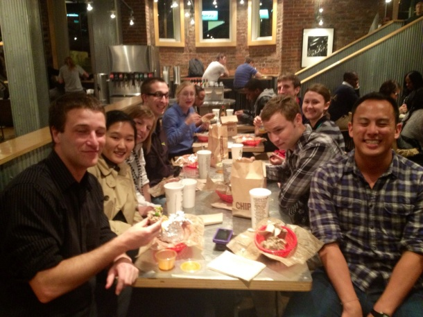 Last supper at Chipotle in DC - April 2012.